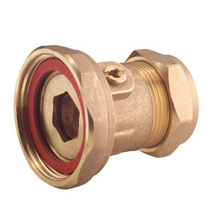Image of Brass Compression Pump valve 22mm x 12.7mm (Dia)22mm