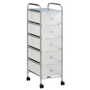Cooke & Lewis White Plastic & steel Storage trolley