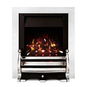 Image of Ignite Fairfield Open Fronted Full depth Chrome effect Gas Fire