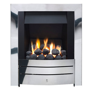 Image of Ignite Maine Chrome effect Gas Fire