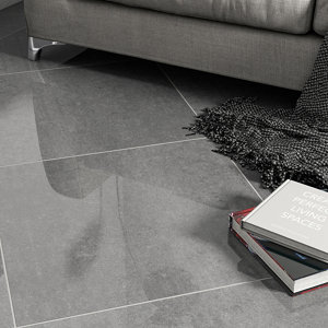 Imperiali Anthracite Porcelain Wall & floor Tile  Pack of 3  (L)600mm (W)600mm