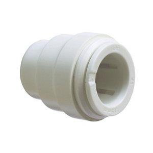 Image of JG Speedfit Plastic Push-fit Stop end (Dia)15mm Pack of 2