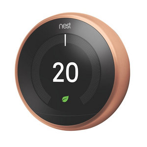 Image of Google Nest 3rd Generation Learning thermostat Copper