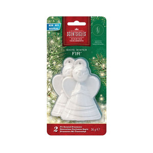 Image of White & green Angel Decoration Pack of 2