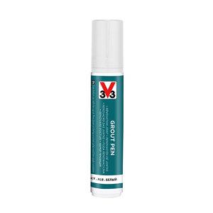 V33 White Matt Grout pen  15ml