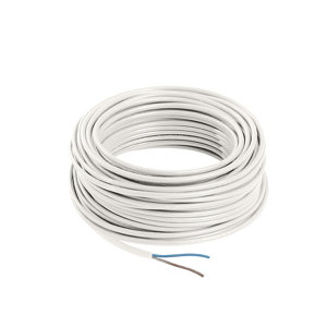 Nexans White 2 core Multi-core cable 0.75mm² x 25m