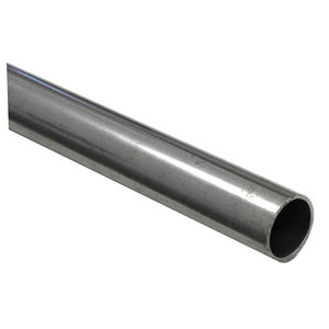 Varnished Cold-pressed steel Round Tube  (L)1m (Dia)12mm