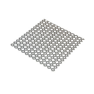 Silver effect Steel Perforated Sheet  (H)1000mm (W)500mm (T)1mm