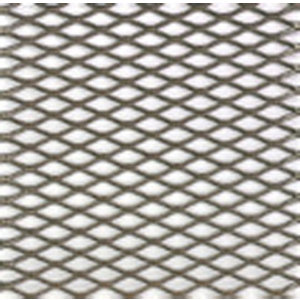 Silver effect Steel Perforated Sheet  (H)1000mm (W)500mm (T)0.5mm