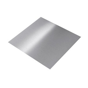 Silver effect Anodised Aluminium Smooth Sheet  (H)1000mm (W)500mm (T)0.5mm