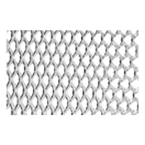 Silver effect Aluminium Perforated Sheet  (H)1000mm (W)500mm (T)0.8mm