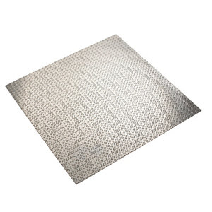 Image of FFA Concept Silver effect Aluminium Embossed Sheet (H)500mm (W)500mm (T)1mm