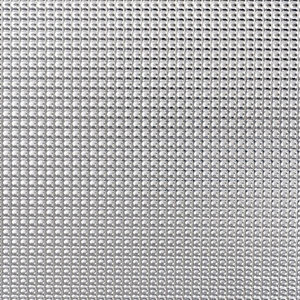 Image of FFA Concept Silver effect Aluminium Textured Sheet (H)500mm (W)250mm (T)1mm