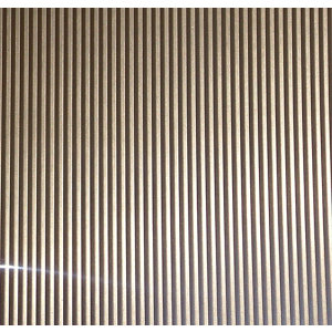 Image of FFA Concept Silver effect Anodised Aluminium Corrugated Sheet (H)500mm (W)250mm (T)1mm