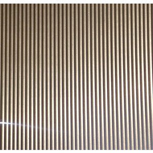 Image of FFA Concept Silver effect Anodised Aluminium Corrugated Sheet (H)1000mm (W)500mm (T)1mm