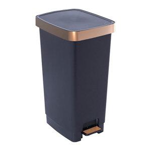 Sundis Pedal Matt Copper Metallic effect Plastic Rectangular Freestanding Kitchen Bin  40L