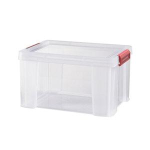 Sundis Clip & store Heavy duty Transparent Rectangular 17L Polypropylene (PP) Stackable Storage box & Integrated lid