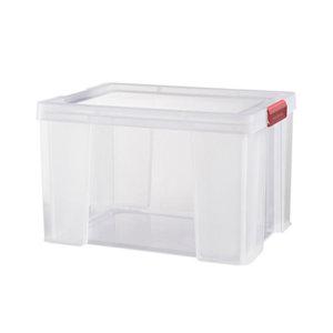 Sundis Clip & store Heavy duty Transparent Rectangular 45L Polypropylene (PP) Stackable Storage box & Integrated lid