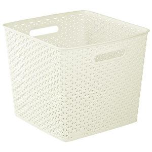 My style White 25L Plastic Storage basket (H)282mm (W)325mm