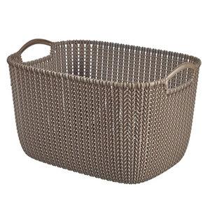 Image of Knit collection Harvest brown 19L Plastic Storage basket (H)230mm (W)400mm
