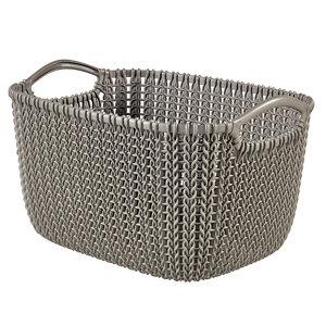 Image of Knit collection Harvest brown 3L Plastic Storage basket (H)140mm (W)250mm