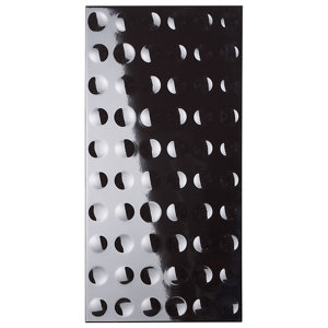 Image of Black Gloss Golfball Ceramic Wall tile Pack of 6 (L)600mm (W)300mm