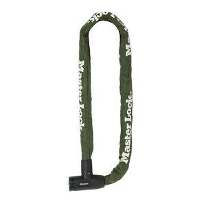 Image of Master Lock Green Steel Cylinder Security chain (L)1m (Dia)8mm