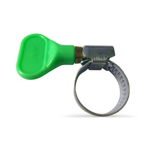 Image of Fitt Plastic & steel Pull fit Hose clip (Dia)10mm-16mm