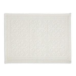 Marinette Saint-Tropez Astone Ivory Cotton Tile Bath mat (L)500mm (W)700mm