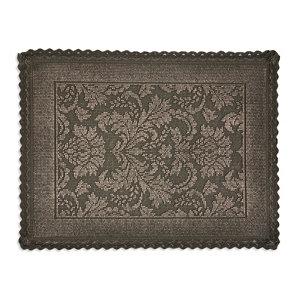 Marinette Saint-Tropez Platinum Gasoline Cotton Floral Bath mat (L)500mm (W)700mm