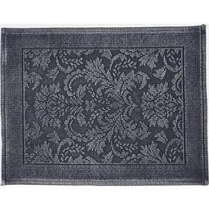 Image of Marinette Saint-Tropez Platinum Dark grey Cotton Floral Bath mat (L)500mm (W)700mm