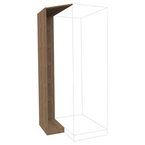 Form Darwin Modular Oak effect Corner cabinet kit (H)2356mm (W)288mm (D)566mm