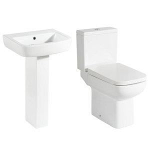 Image of Cooke & Lewis Fabienne Close-coupled Toilet & full pedestal basin