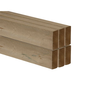 Smooth Planed Round edge Redwood C16 CLS timber (L)2.4m (W)89mm (T)38mm  Pack of 6