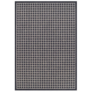 Image of Colours Amara Houndstooth Black & grey Rug (L)1.6m (W)1.2m