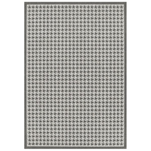 Image of Colours Amara Houndstooth Beige & grey Rug (L)1.6m (W)1.2m