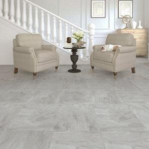 Image of Colours Leggiero Light grey Slate effect Laminate flooring 1.86m² Pack