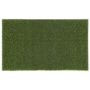 Image of Artificial grass Green Polyethylene Door mat (L)0.75m (W)0.45m