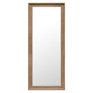 Image of Colours Felton Oak effect Rectangular Framed Mirror (H)1525mm (W)635mm