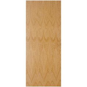 Image of Flush Oak veneer LH & RH Internal Fire Door (H)1981mm (W)762mm