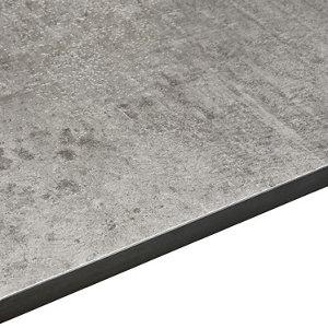 Image of 12.5mm Exilis Woodstone Grey Square edge Laminate Worktop (L)2.4m (D)425mm