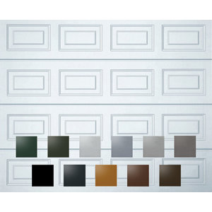 Image of Georgian Made to measure Framed Sectional Garage door (H)2134mm (W)2438mm