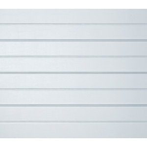 Ribbed Made to measure Framed White Sectional Garage door  (H)2438mm (W)3353mm