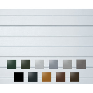 Ribbed Made to measure Framed Sectional Garage door  (H)3353mm (W)4573mm