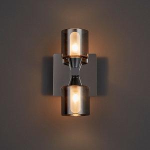 Image of Cobark Smoked effect Bathroom Wall light