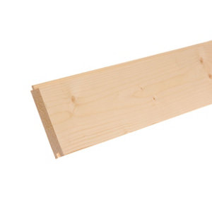 Image of Planed Spruce Tongue & groove Floorboard (L)2.1m (W)119mm (T)18mm0