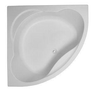 Image of Cooke & Lewis Strand Acrylic Corner Bath & panel set (L)1350mm (W)1350mm