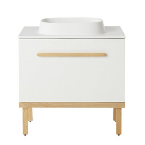 GoodHome Adriska White Vanity unit & basin set (W)800mm