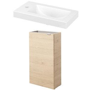 GoodHome Imandra Gloss White Freestanding Vanity unit & basin set