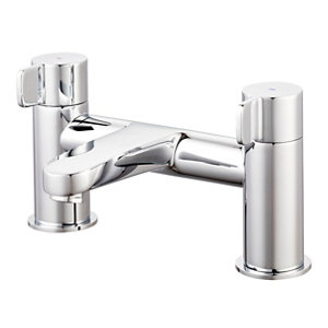Image of GoodHome Cavally Chrome effect Bath Filler Tap